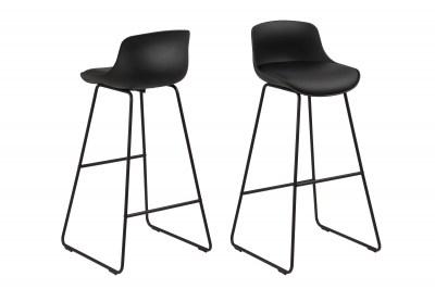 Dizajnová barová stolička Alphonse, čierna