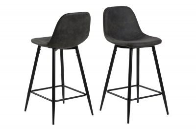 Dizajnová barová stolička Alphonsus, antracitová