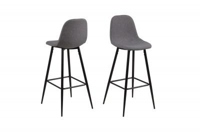 Dizajnová barová stolička Alphonsus, svetlosivá