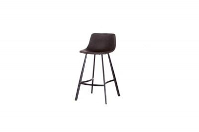 Dizajnová barová stolička Claudia tmavosivá