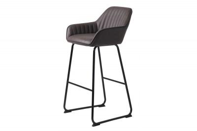 Dizajnová barová stolička Guillermo tmavohnedá