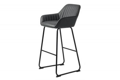 Dizajnová barová stolička Guillermo tmavosivá