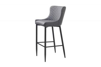 Dizajnová barová stolička Hallie sivá