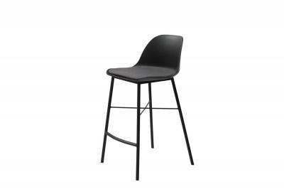 Dizajnová barová stolička Jeffery čierna