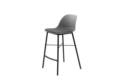 Dizajnová barová stolička Jeffery sivá