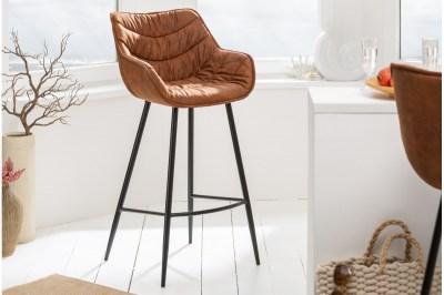 Dizajnová barová stolička Kiara antik hnedá