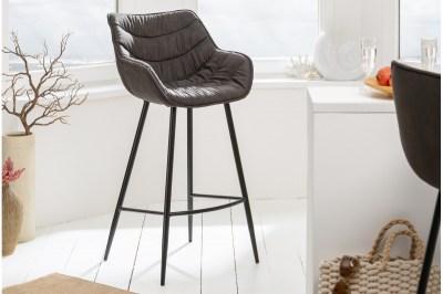 Dizajnová barová stolička Kiara antik sivá