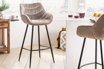 Dizajnová barová stolička Kiara šampanský zamat