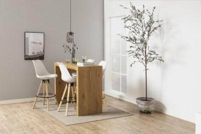 Dizajnová barová stolička Nascha, biela-prírodná