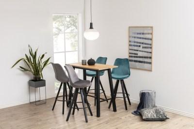 Dizajnová barová stolička Nascha, fľaškovo zelená-čierna