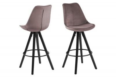 Dizajnová barová stolička Nascha, svetlo ružová