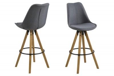 Dizajnová barová stolička Nascha, tmavo šedá