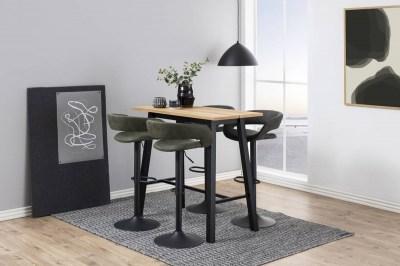 Dizajnová barová stolička Natania, olivovo zelená a čierna