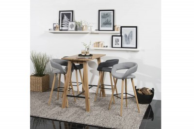 Dizajnová barová stolička Natania, svetlo šedá