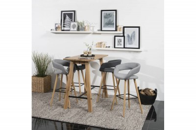 Dizajnová barová stolička Natania, tmavo šedá