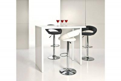 Dizajnová barová stolička Navi, biela a chrómová