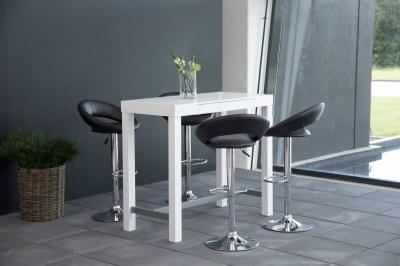 Dizajnová barová stolička Navi, čierna a chrómová
