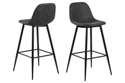 Dizajnová barová stolička Nayeli, antracitová a čierna