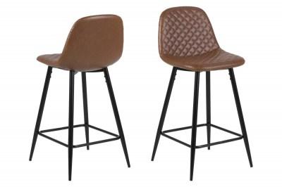 Dizajnová barová stolička Nayeli, brandy a čierna 91 cm