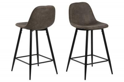 Dizajnová barová stolička Nayeli, svetlo hnedá a čierna 91 cm