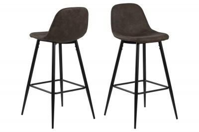 Dizajnová barová stolička Nayeli, svetlo hnedá a čierna