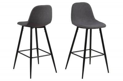 Dizajnová barová stolička Nayeli šedá a čierna