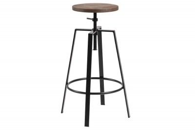 Dizajnová barová stolička Nephele, čierna