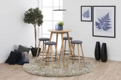 Dizajnová barová stolička Neptune, šedá-prírodná