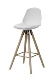 Dizajnová barová stolička Nerea, biela