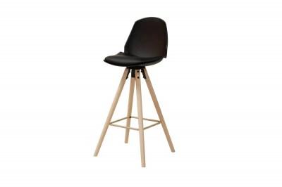 Dizajnová barová stolička Nerea, čierna