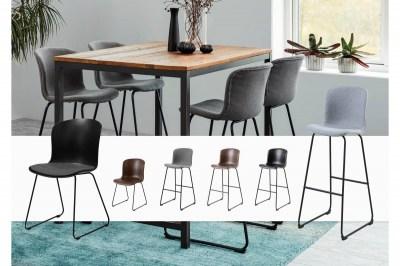 Dizajnová barová stolička Nerilla, šedá
