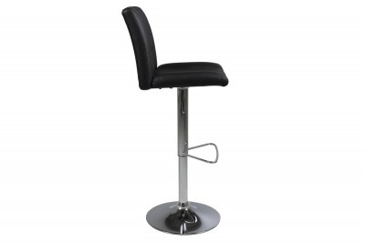 Dizajnová barová stolička Nerine, čierna a chrómová