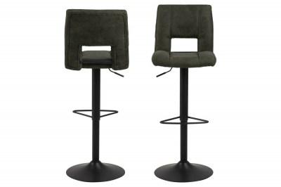Dizajnová barová stolička Nerine, olivovo zelená a čierna