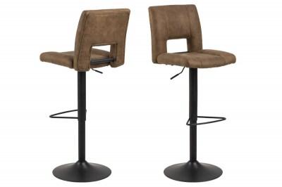 Dizajnová barová stolička Nerine, svetlo hnedá a čierna