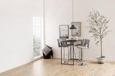 Dizajnová barová stolička Nerine, svetlo šedá a chrómová