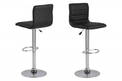Dizajnová barová stolička Nessa, čierna a chrómová