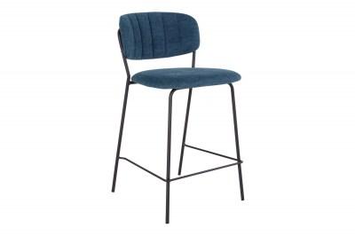 Dizajnová barová stolička Rosalie modrá