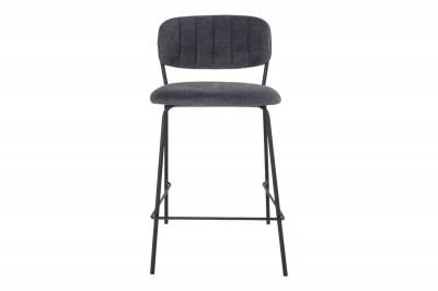 Dizajnová barová stolička Rosalie tmavosivá