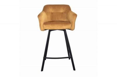 dizajnova-barova-stolicka-s-podruckami-giuliana-100-cm-horcicovy-zamat-002