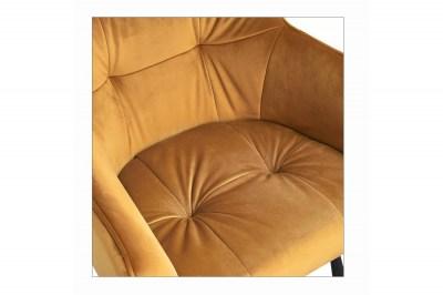 dizajnova-barova-stolicka-s-podruckami-giuliana-100-cm-horcicovy-zamat-005