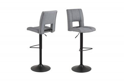 Dizajnová barová stolička Almonzo, svetlosivá / čierna