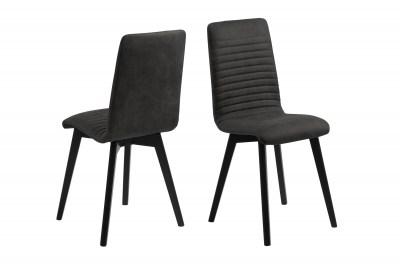 Dizajnová jedálenská stolička Alano, antracitová / čierna