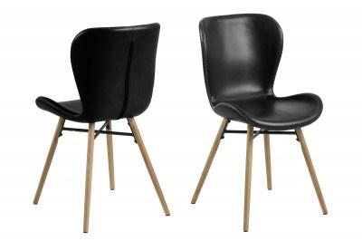 Dizajnová jedálenská stolička Alejo, čierna