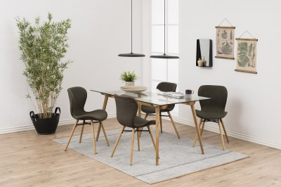 Dizajnová jedálenská stolička Alejo, kaki