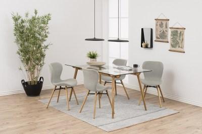 Dizajnová jedálenská stolička Alejo, piesková