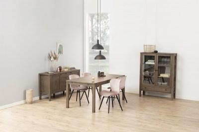 Dizajnová jedálenská stolička Alejo, popolavá ružová