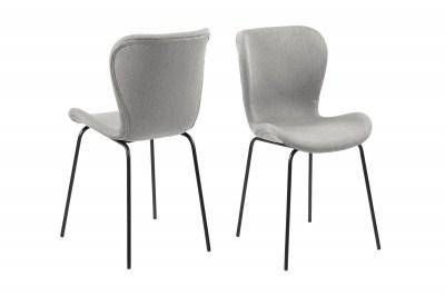 Dizajnová jedálenská stolička Alejo, svetlosivá