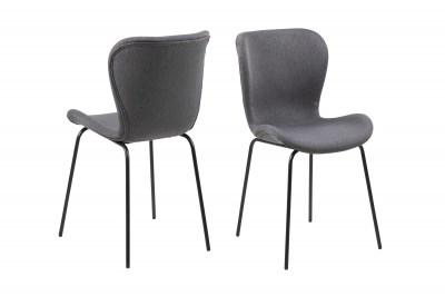 Dizajnová jedálenská stolička Alejo, tmavosivá