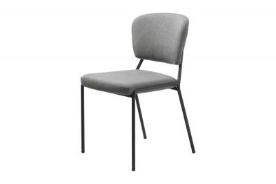 Dizajnová jedálenská stolička Alissa svetlosivá