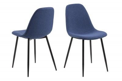 Dizajnová jedálenská stolička Alphonsus, modrá